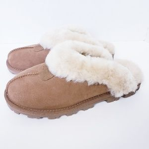 Ugg Coquette Shearling Sheepskin Slip On Mules 7